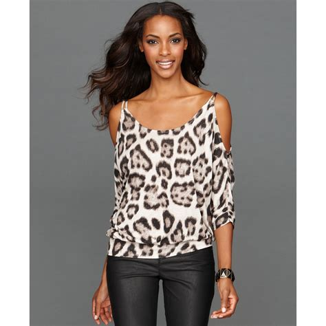 Sleeve Animal Print Top lyst inc international concepts three quarter sleeve