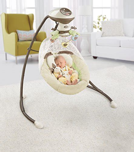 bunny fisher price swing fisher price snugabunny cradle n swing with smart swing