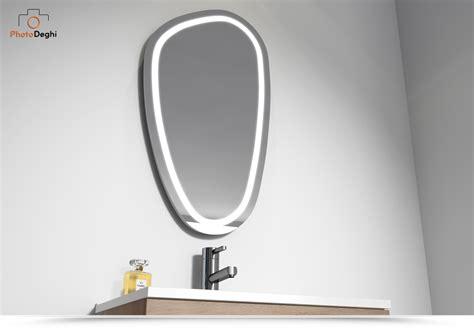 specchio led bagno specchio led bagno 80x45 con illuminazione design moderno foil