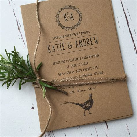 Rustic Wedding Invitations by Rustic Wedding Invitations And Stationery Wagtail Designs