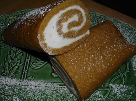 Special Roll Cake Without Topping special occasion pumpkin roll aka hazels pumpkin cake roll recipe genius kitchen