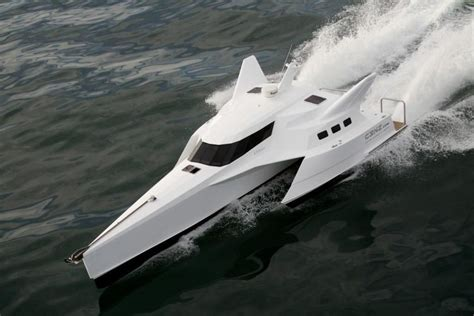 trimaran wavepiercer trimaran power boat  sale wwwyachtworldcom