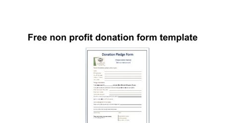 Non Profit Donation Card Template by Donation Form Template For Non Profit Beautiful Template