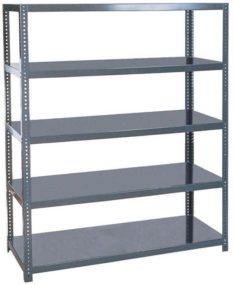4 shelf gray commercial metal shelving rack heavy duty