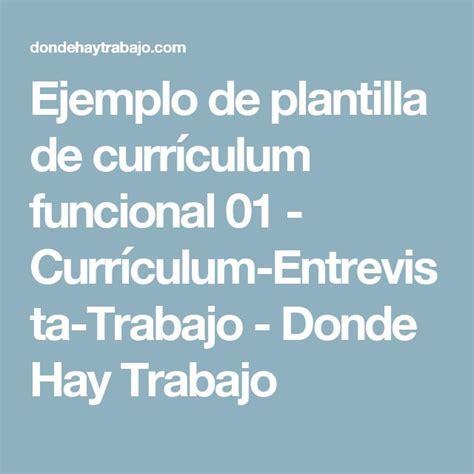 Plantilla Curriculum Experiencia Trabajo Las 25 Mejores Ideas Sobre Curriculum Ejemplo En Y M 225 S Ejemplo De Un Curriculum