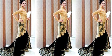 Kebaya Shanghai Warna Gold pernikahan kebaya pengantin makna warna kebaya akad nikah anda hitam dan emas vemale