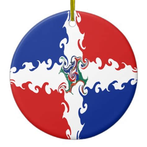 dominican republic gnarly flag christmas tree ornament