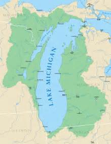 Michigan Great Lakes Map by Gallery For Gt Lake Michigan Map