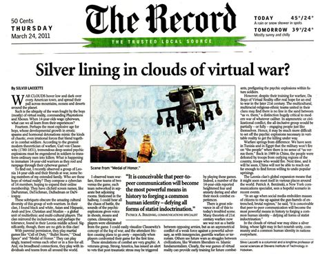 the record newspaper new jersey silvio laccetti tranquility49 silver lining in clouds