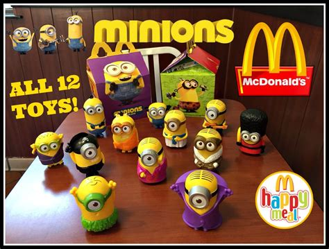 Happymeal Mac Donalds Karakter 3 minions mcdonalds happy meal toys july 2015 all 12