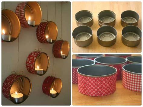 candelabros hechos con material reciclable manualidades reciclaje candelabro colgante con latas