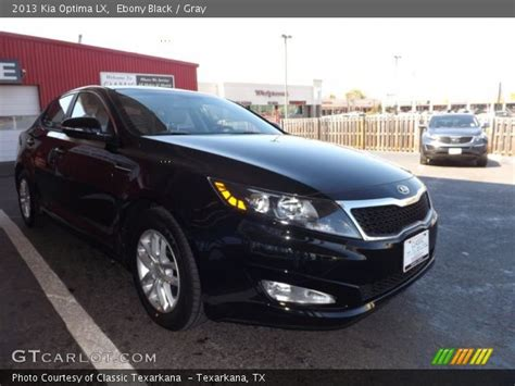 2013 Kia Optima Black Black 2013 Kia Optima Lx Gray Interior
