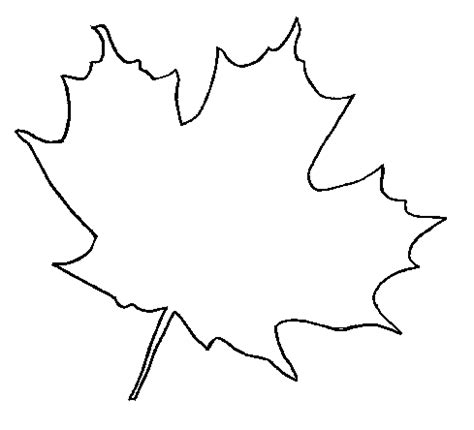 maple leaf printable template templates coloring part 19