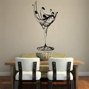Sticker For Glass Wall Elegant Wine Glass Wall Sticker Art Design Kitchen Decal