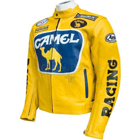 yellow motorcycle jacket camel racing yellow leather motorcycle jacket