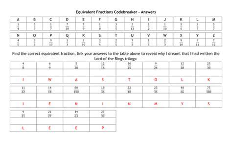 Mukena Corak Kode M3 equivalent fractions codebreaker by alutwyche teaching