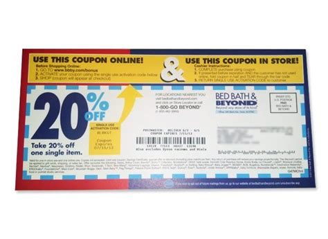 be on the lookout for bed bath beyond coupons you can