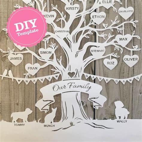 paper cut family tree template paper cut family tree template printable 60 best family