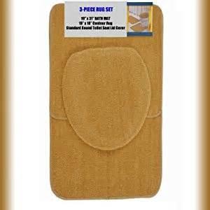Gold Bathroom Rug Sets Gold 3 Bathroom Set 1 19 Quot X 31 Quot Bath