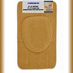 Gold Bathroom Rug Sets Gold 3 Bathroom Set 1 19 Quot X 31 Quot Bath Mat Rug 1 19 Quot X 18 Quot Contour Mat Rug 1