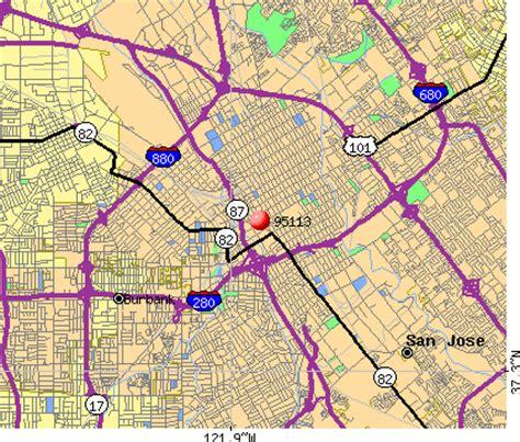 san jose zip code map san jose zip code map map3