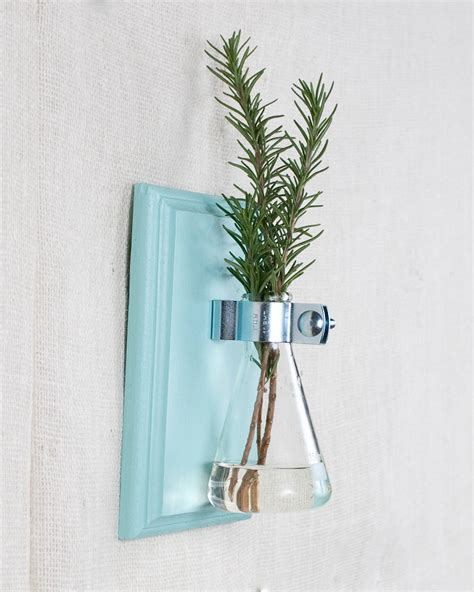 wall vase blue hanging vase bud vase gift wrapped by