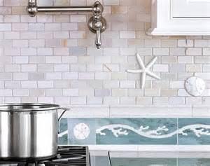 a coastal kitchen tiles backsplash brings the inside