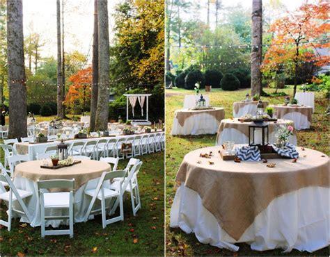 small home wedding decoration ideas rustic wedding reception table settings