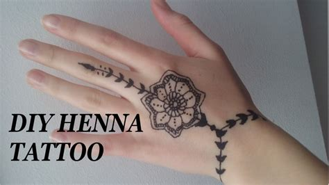 diy henna tattoo leichtes motiv f 252 r anf 228 nger youtube