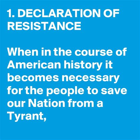 of the american resistance you are the one we been waiting for books 1 declaration of resistance when in the course of american history it becomes necessary for the