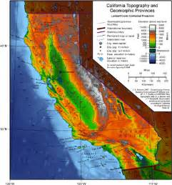 map of mountain ranges in california map of geography of california the wiki