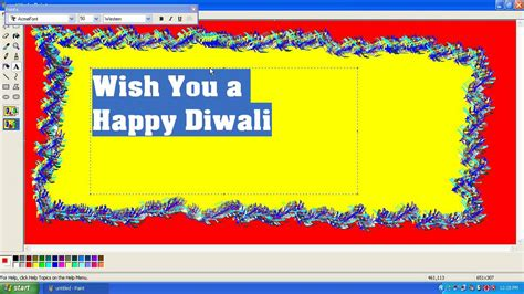 how to make a greeting card in word how to create diwali greeting card in windows mspaint