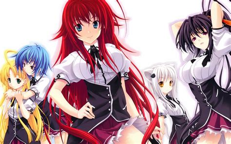 highschool dxd season 3 high school dxd hd wallpaper rias gremory akeno