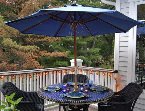 Black And Blue Patio by Tabletop Stories Black And Blue