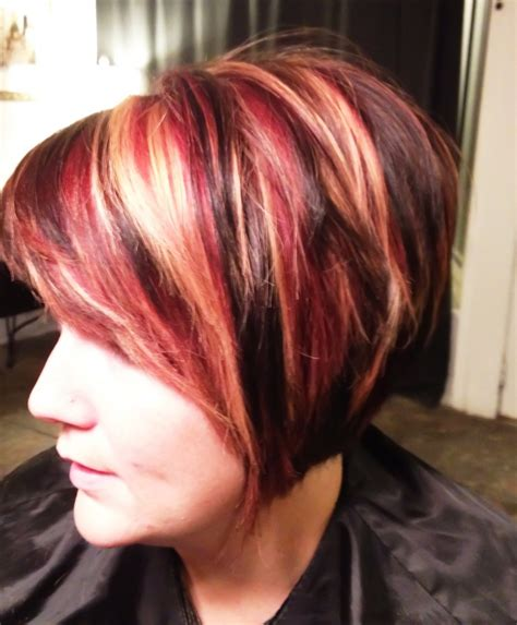 red blonde and brown highlights hair makeup pinterest red black and blonde highlights for brown hair hair and