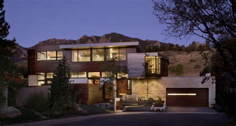 colorado home plans threshold between the city and the mountain park syncline house in colorado freshome com