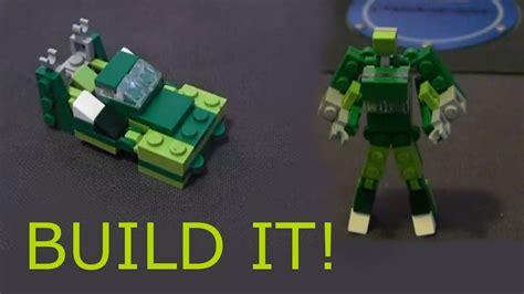 tutorial lego transformers lego mini race car transformer tutorial quot speedy quot youtube