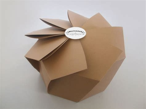 How To Make Paper Packaging - fmp brief 5 chaophraya origami influence