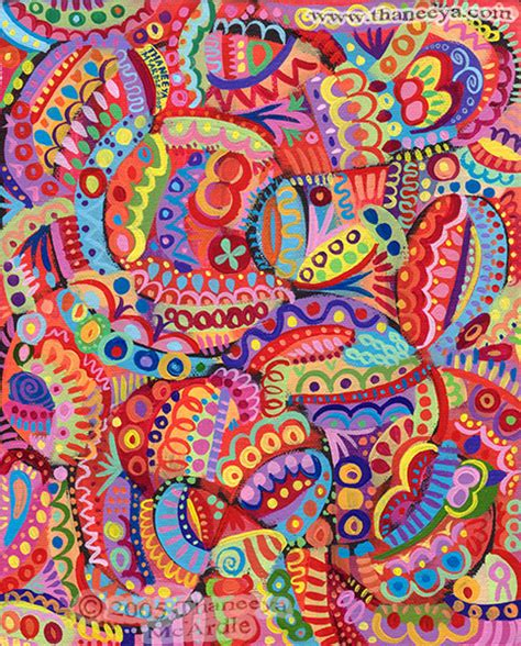 artist using pattern colorful abstract art detailed psychedelic abstract