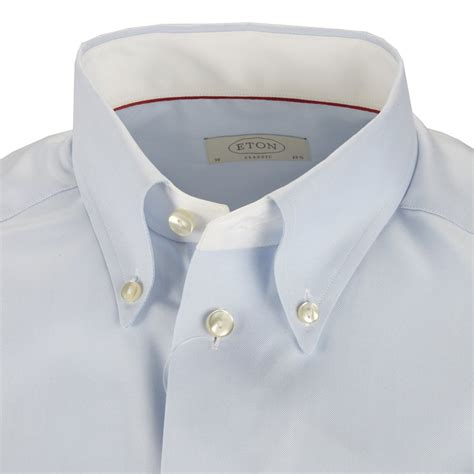 Button Collar Shirt eton blue shirt button collar
