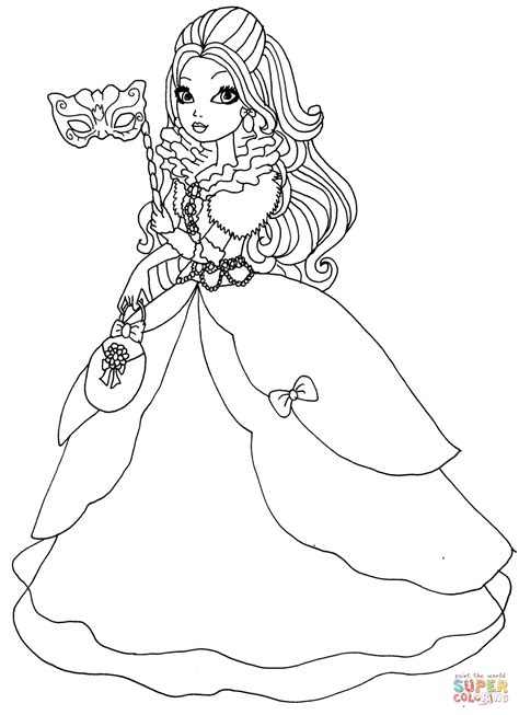 coloring pages ever after high raven queen ever after high apple white thronecoming coloring page