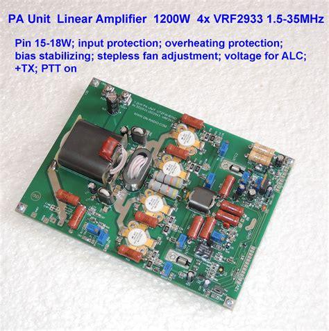 transistor hf lifier 1200w hf linear lifier board mosfet 4x vrf2933 hi power
