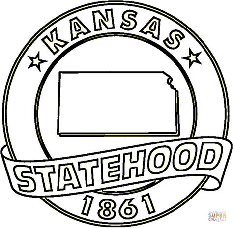 Kansas Coloring Page Free Printable Coloring Pages Kc Colour Pages