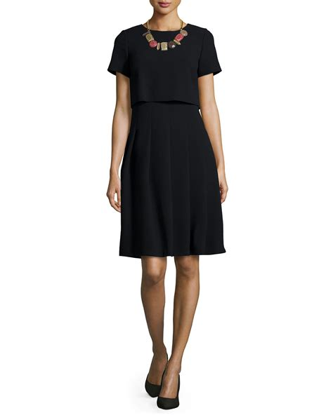 Dress Hodie New York lafayette 148 new york ella sleeve illusion dress in black lyst