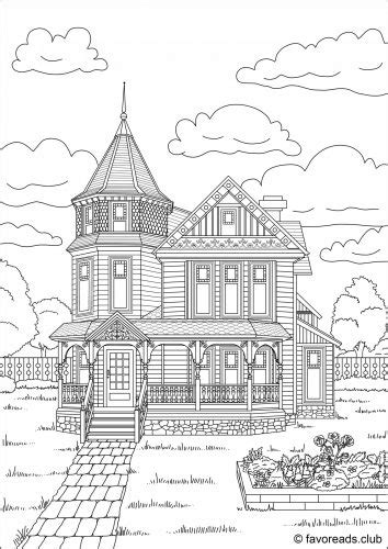 victorian house coloring pages free victorian house coloring page coloring pinterest