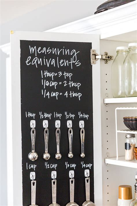 how to create a chalkboard measuring cabinet modish
