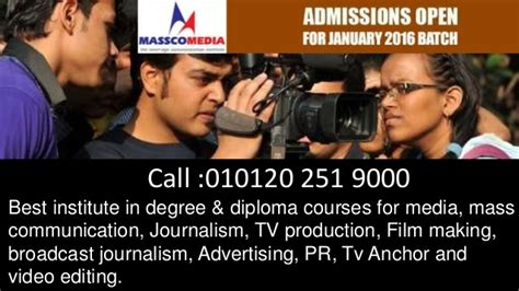 Mba In Journalism And Mass Communication Syllabus by Bachelor Degree In Mass Communication Delhi