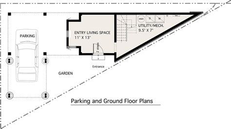 triangular house floor plans modern style house plan 1 beds 1 baths 983 sq ft plan 905 2