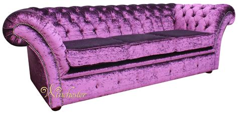 purple settee sofa chesterfield balmoral purple 3 seater sofa settee boutique