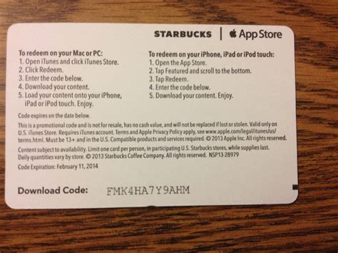 Free Gift Card Apple - starbucks now lets you use your iphone s camera to redeem pick of the week cards
